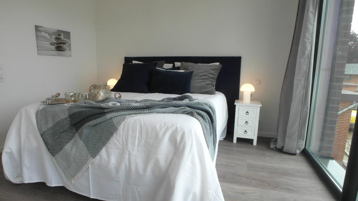 Homestaging in Ferienwohnung: Schlafzimmer