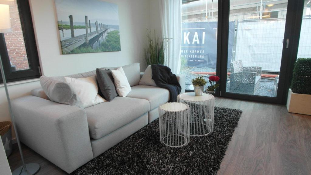 Homestaging in Ferienwohnung: Wohnzimmer